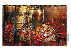Fireman - One Day A Long Time Ago  Carry-all Pouch by Mike Savad