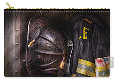 Fireman - Worn And Used Carry-all Pouch by Mike Savad