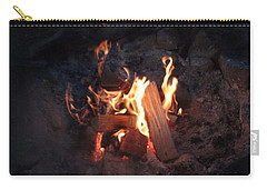 Carry-all Pouch featuring the photograph Fireside Seat by Michael Porchik