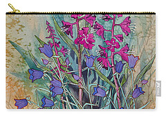 Fireweed And Bluebells Carry-all Pouch