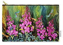 Fireweed And Dragonflies Carry-all Pouch
