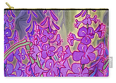 Carry-all Pouch featuring the mixed media Fireweed Medley by Teresa Ascone