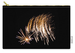 Carry-all Pouch featuring the photograph Fireworks 1 by Susan  McMenamin