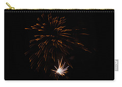 Carry-all Pouch featuring the photograph Fireworks 2 by Susan  McMenamin