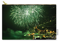 Carry-all Pouch featuring the photograph Fireworks Hdr by Antonio Scarpi