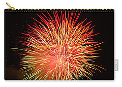 Carry-all Pouch featuring the photograph Fireworks  by Michael Porchik