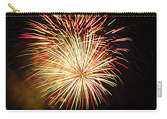 Carry-all Pouch featuring the photograph Fireworks Over Chesterbrook by Michael Porchik