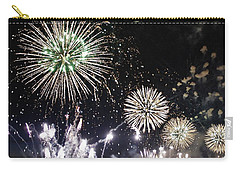 Carry-all Pouch featuring the photograph Fireworks Over The Hudson River by Lilliana Mendez