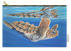Carry-all Pouch featuring the painting First Dive by Jane Girardot