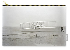 First Flight Captured On Glass Negative - 1903 Carry-all Pouch
