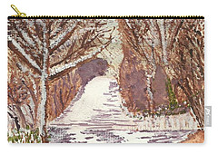 Carry-all Pouch featuring the painting First Footprints by Tracey Williams