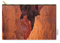 Carry-all Pouch featuring the photograph First Light On Hoodoos by Susan Rovira