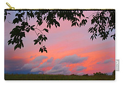Carry-all Pouch featuring the photograph First October Sunset by Kathryn Meyer