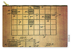 First Scrabble Game Board Patent From 1956  Carry-all Pouch