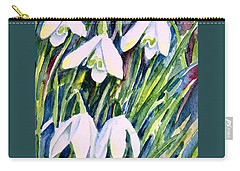 First Snowdrops Of Winter  Carry-all Pouch