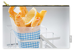 Fish And Chips Carry-all Pouch by Amanda Elwell