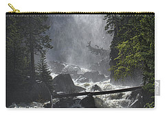 Carry-all Pouch featuring the photograph Fish Creek Mist by Don Schwartz