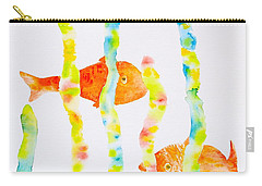 Carry-all Pouch featuring the painting Fish Fun by Michele Myers