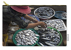 Fish Market In Vietnam Carry-all Pouch by Venetia Featherstone-Witty