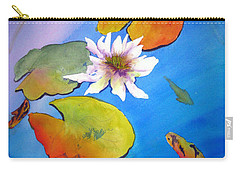 Fish Pond I Carry-all Pouch by Lil Taylor