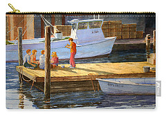 Carry-all Pouch featuring the painting Fish Tales At Cortez by Roger Rockefeller