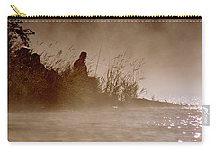 Fisher In The Mist Carry-all Pouch by Sharon Elliott