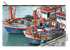 Carry-all Pouch featuring the photograph Fisherman by Andrea Anderegg