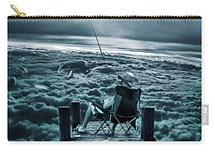 Fishing Above The Clouds Carry-all Pouch by Marian Voicu