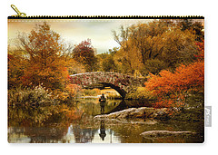 Carry-all Pouch featuring the photograph Fishing At Gapstow by Jessica Jenney