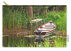 Fishing Boat Carry-all Pouch by Mary Carol Story