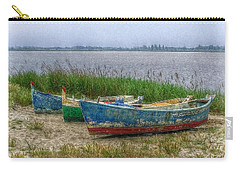 Carry-all Pouch featuring the photograph Fishing Boats by Hanny Heim