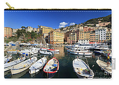 Carry-all Pouch featuring the photograph fishing boats in Camogli by Antonio Scarpi