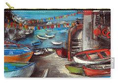 Fishing Boats In Riomaggiore Carry-all Pouch