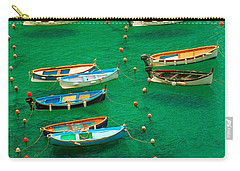Fishing Boats In Vernazza Carry-all Pouch