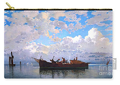 Fishing Boats On A Venetian Lagoon Carry-all Pouch by Pg Reproductions