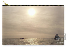 Carry-all Pouch featuring the photograph Fishing Montauk by John Telfer
