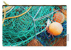 Fishing Nets And Floats Carry-all Pouch by Jane McIlroy