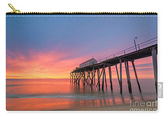 Fishing Pier Sunrise Carry-all Pouch by Michael Ver Sprill