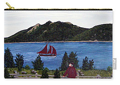 Fishing Schooner Carry-all Pouch by Barbara Griffin