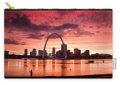 Fishing The Mississippi In St Louis Carry-all Pouch