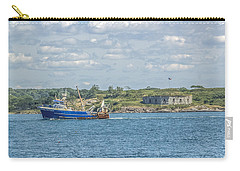 Carry-all Pouch featuring the photograph Fishing Trawler Coming Into Port by Jane Luxton
