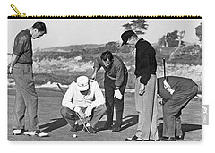 Five Golfers Looking At A Ball Carry-all Pouch