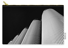 Five Silos In Black And White Carry-all Pouch