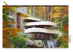 Fixer Upper - Square Version - Frank Lloyd Wright's Fallingwater Carry-all Pouch