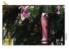 Flag And Flowers 6110 Pe Carry-all Pouch