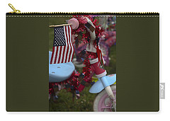 Carry-all Pouch featuring the photograph Flag Bike by Patrice Zinck