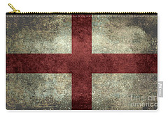 Flag Of England St Georges Cross Vintage Version To Scale Carry-all Pouch