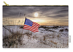 Flag On The Beach Carry-all Pouch