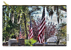 Carry-all Pouch featuring the photograph Flags That Stand by Victor Montgomery