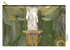Carry-all Pouch featuring the painting Flame by Maria Langgle